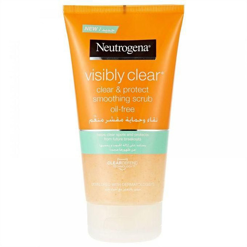Neutrogena Visibly Clear Clear & Protect Smoothing Scrub Oil Free 150ML