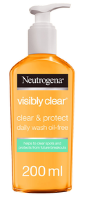 Neutrogena Visibly Clear Clear & Protect Oil-Free Facial Wash 200ml
