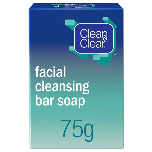 Clean & Clear Facial Cleansing Bar Soap 75g