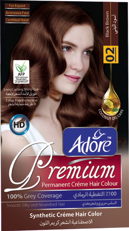 Adore Black Brown Premium Hair Colour 2 Gram 60 Rs 270  lowest price in pakistan on saloni.pk