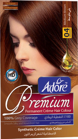 Adore Medium Brown Premium Hair Coloue 4 Gram 60  Rs 270 only lowest price in pakistan on saloni.pk
