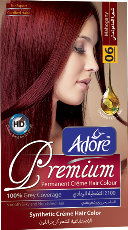 Adore Mahogany Premium Hair Colour 6 Gram 60 Rs 270 only lowest price in pakistan on saloni.pk