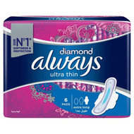 Always Diamonds Ultra Thin Sanitary Pads, Extra Long, Single Pack lowest price in pakistan  on saloni.pk