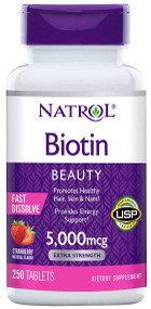 Natrol Biotin 5000 Mcg Fast Dissolve Extra Strength 250 Tablets lowest price in pakistan