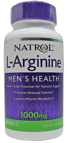 Natrol L-Arginine 1000mg 50 Tablets (Men's Health)