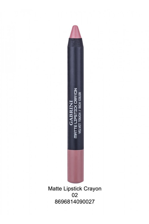 Gabrini Matte Lipstick Crayon Pencil 02 lowest price in pakistan on saloni.pk