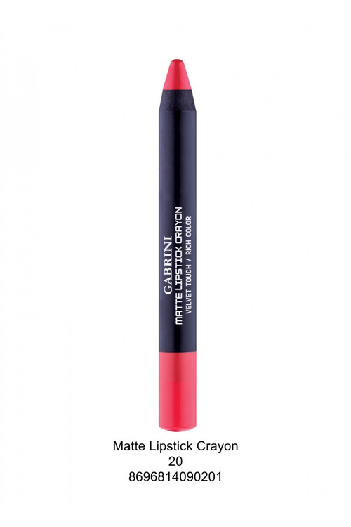 Gabrini Matte Lipstick Crayon Pencil 20 lowest price in pakistan on saloni.pk