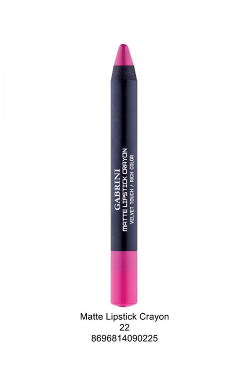 Gabrini Matte Lipstick Crayon Pencil 22 lowest price in pakistan on saloni.pk