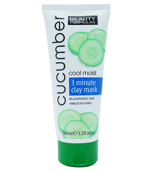 Beauty Formulas Cucumber Cool Moist 3 Minute Clay Mask 100 ml Buy online in pakistan on saloni.pk