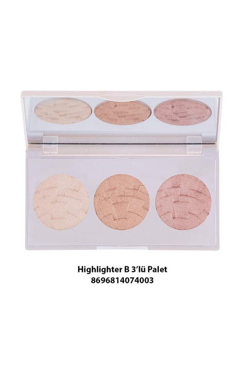 Gabrini Highlighter 3 in 1 (Palette) B