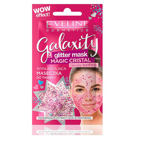 Eveline Galaxity Glitter Face Mask Pink 10 ML. Lowest price on Saloni.pk.