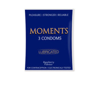 The Vitamin Company Momemts Lubricated Condoms Raspberry Flavour. Lowest price on Saloni.pk