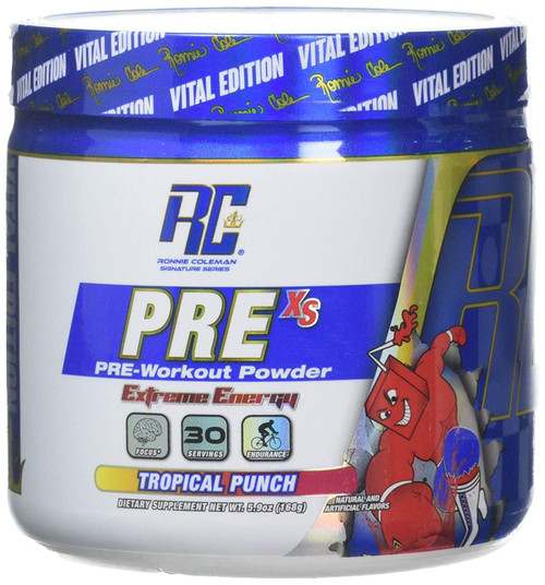 Ronnie Coleman Pre XS Extreme Energy Pre Workout Tropical Punch. Lowest price on Saloni.pk