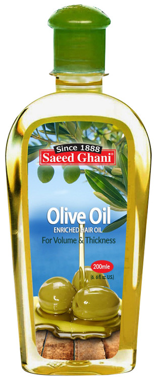 Saeed Ghani Olive Enriched Hair Oil 200 ML. Lowest price on Saloni.pk