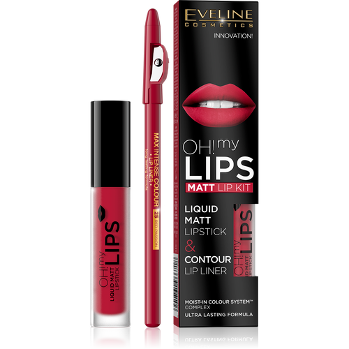 Eveline Oh! My Lips Make Up Set 05 Red Passion lowest price on Saloni.PK