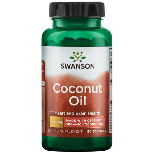 Swanson Coconut Oil 1000 Mg Made With Certified Organic - 60 Softgels. Lowest price on Saloni.pk
