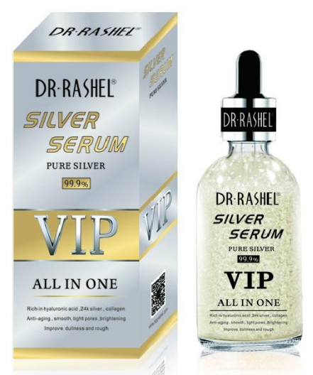 Dr Rashel Silver Serum VIP All In One Pure 50 ML. Lowest price on Saloni.pk