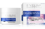 Eveline Double Whitening Mattifying Cream Day & Night 50 ml. Lowest price on Saloni.pk
