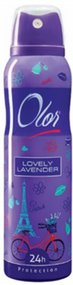 OLOR Body Spray 24h Protection Lovely Lavender 150 ML. Lowest price on Saloni.pk