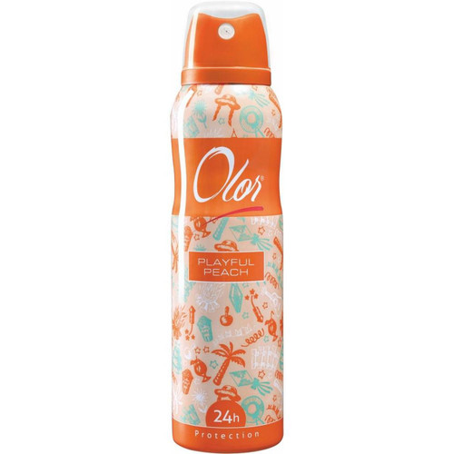 OLOR Body Spray 24h Protection Playful Peach 150 ML. Lowest price on Saloni.pk