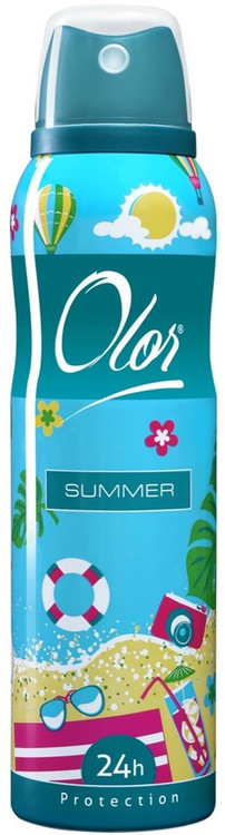 OLOR Body Spray 24h Protection Summer 150 ML. Lowest price on Saloni.pk