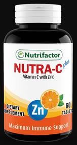 Nutrifactor Nutra C Plus with Zinc 60 Tablets