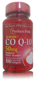 Puritan's Pride Q-SORB CO Q-10 50 mg - 100 Softgels. Lowest price on Saloni.pk