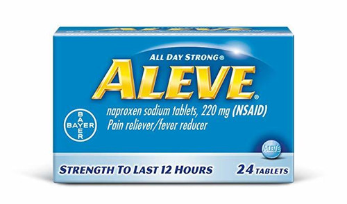 Aleve Pain Reliever/Fever Reducer 220 mg - 24 Tablets . Lowest price on Saloni.pk