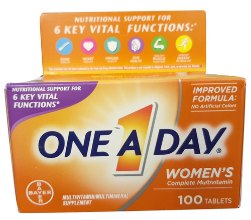 One A Day Women's Complete Multivitamin - 100 Tablets. Lowest price on Saloni.pk