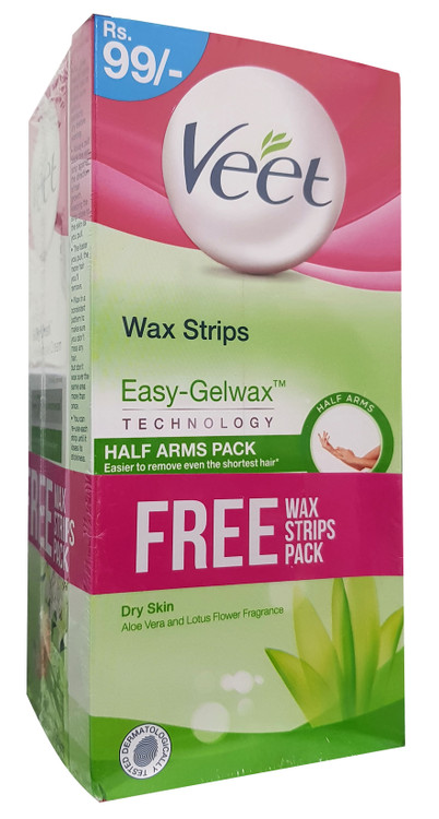 3-in-1 Bundle Veet Wax Strips & Hair Removal Creams For Dry Skin. Buy Original Products in Pakistan at Saloni.pk.