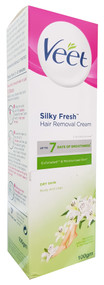 Veet Silky Fresh Hair Removal Cream For Dry Skin - Body & Legs (100 Grams). Lowest price on Saloni.pk