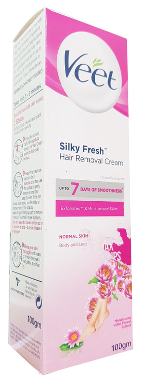 Veet Silky Fresh Hair Removal Cream For Normal Skin Body & Legs - 100 Grams. Buy Original Products in Pakistan.