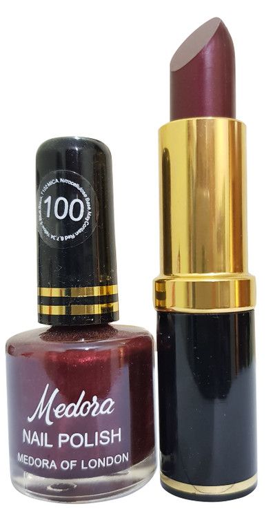 Medora Lipstick and Nail Polish 100. Lowest price on Saloni.pk