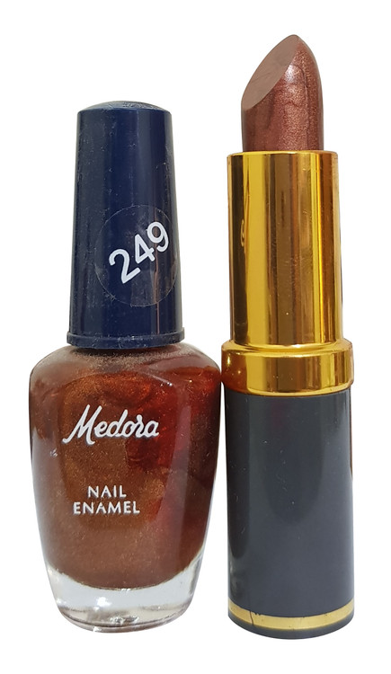 Medora Lipstick and Nail Polish 249. Lowest price on Saloni.pk