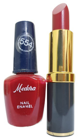 Medora Lipstick and Nail Polish Pair Pack 554. Lowest price on Saloni.pk