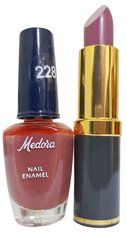 Medora Lipstick and Nail Polish Pair Pack 228. Buy Online on Saloni.pk