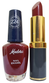 Medora Lipstick and Nail Polish Pair Pack 224. Lowest price on Saloni.pk