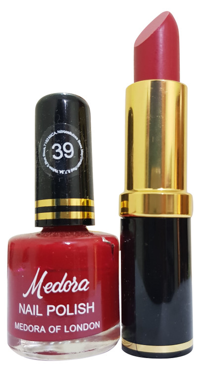 Medora Lipstick and Nail Polish Pair Pack 39. Lowest price on Saloni.pk