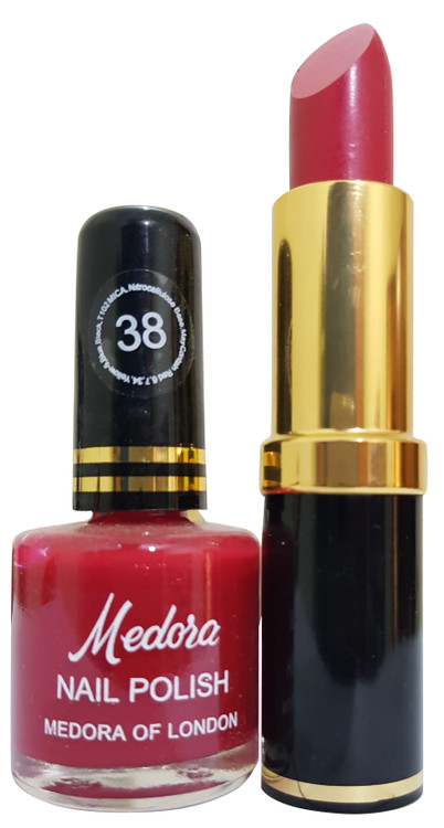 Medora Lipstick and Nail Polish Pair Pack 38. Lowest price on Saloni.pk