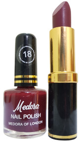 Medora Lipstick and Nail Polish Pair Pack 18. Lowest price on Saloni.pk