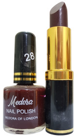 Medora Lipstick and Nail Polish Pair Pack 28. Lowest price on Saloni.pk