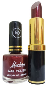 Medora Lipstick and Nail Polish Pair Pack 60. Lowest price on Saloni.pk