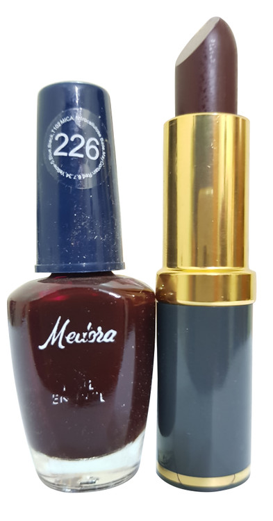 Medora Lipstick and Nail Polish Pair Pack 226. Lowest price on Saloni.pk