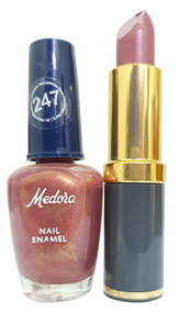Medora Lipstick and Nail Polish Pair Pack 247. Lowest price on Saloni.pk
