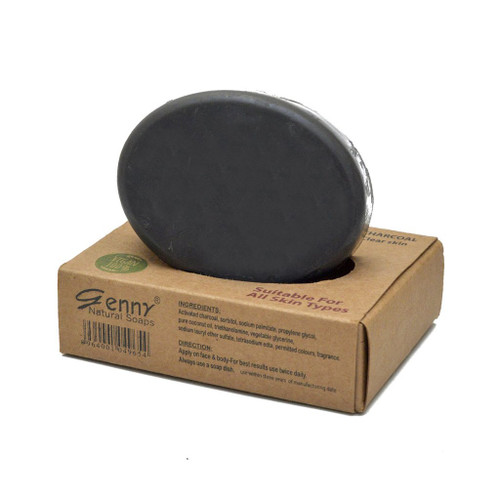 Genny Cosmetics Natural Charcoal Soap. Lowest price on Saloni.pk