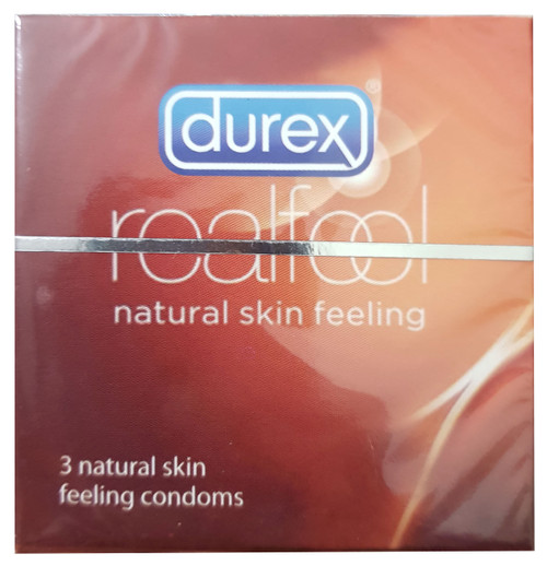Durex Love Real Feel Natural Skin Condoms - 3 Pieces.  Buy online in pakistan