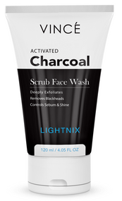 Vince Women Activated Charcoal Scrub Face Wash - 120 ML