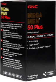 GNC Mega Men 50 Plus 120 Caplets buy online in pakistan