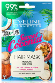 Eveline Food For Hair Sweet Coconut Care Hair Mask 20 ML Lowest Price On Saloni.pk