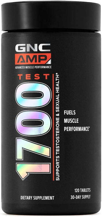 GNC Amp Test 1700 Testosterone Support Supplement 120 Tablets. Lowest price on Saloni.pk